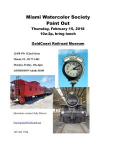MWS Paint out Gold Coast Railroad Museum 021518